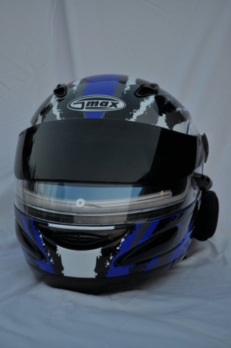 Slim Helmet Audio System mounts easily on side of helmet